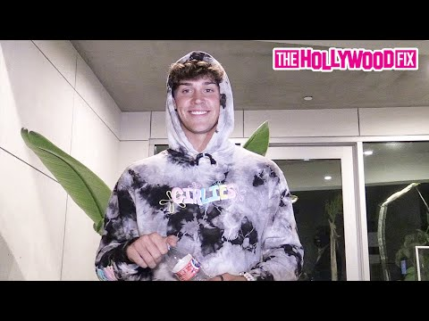 Noah Beck Blushes & Smiles When Asked About Dating Charli D'Amelio At Larray's Birthday Bash 7.21.20