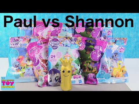 Paul vs Shannon My Little Pony Challenge Toy Review Blind Bag MLP Fun | PSToyReviews