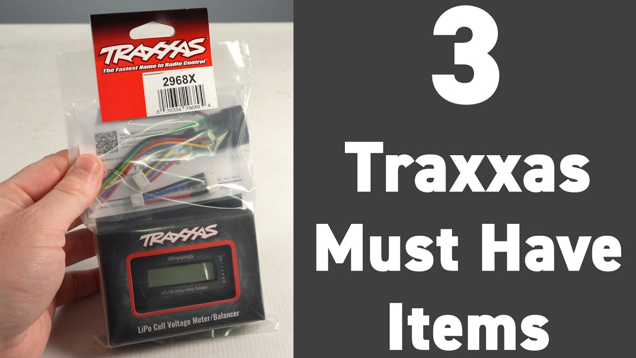 Top 3 Items for your Traxxas R/C