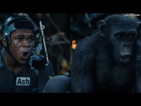 How 'Apes' actors put on their digital fur