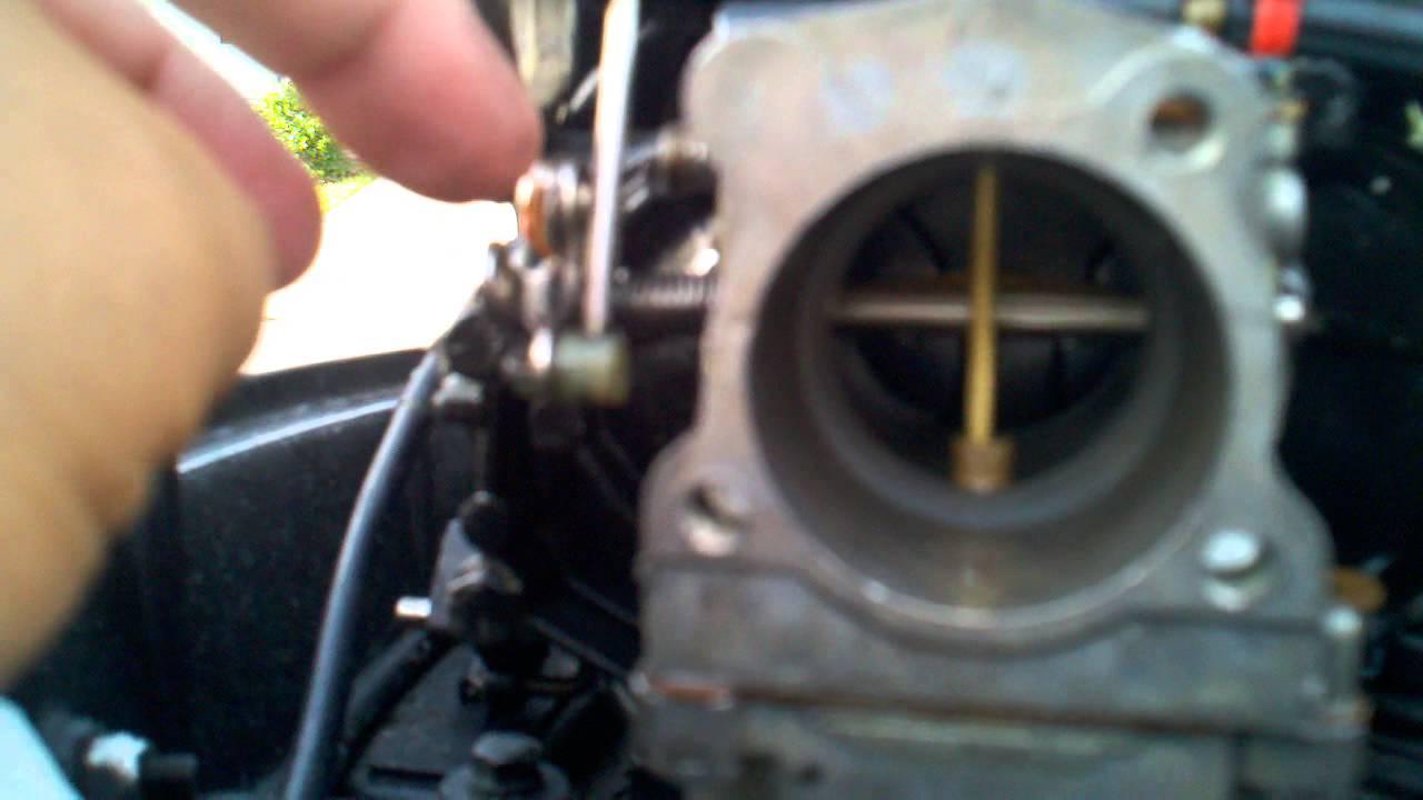 Johnson 30 hp Throttle Adjustment  YouTube