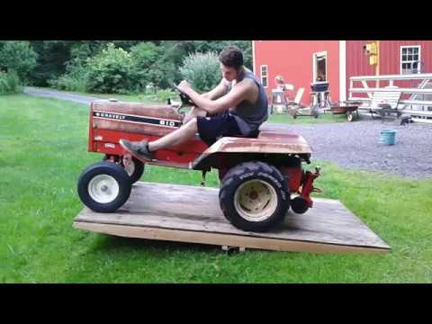 Testing out the garden tractor teeter totter with the Gravely 816