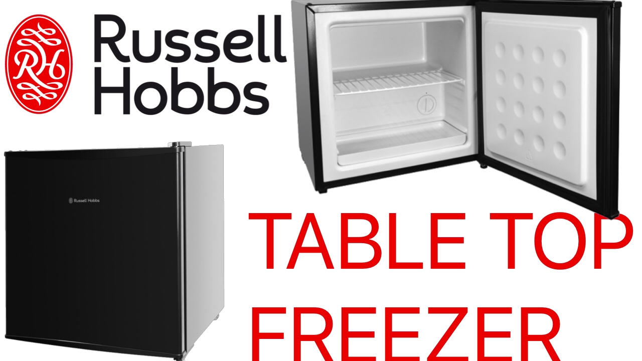 Unboxing russell hobbs rhttfz1b black table top freezer for Table top freezer