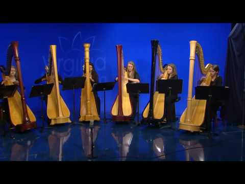 American Youth Harp ensemble 'Silent Night'