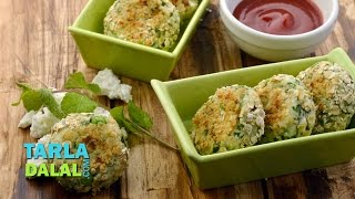 Green Pea and Paneer Tikki (Healthy Kids Snack) by Tarla Dalal