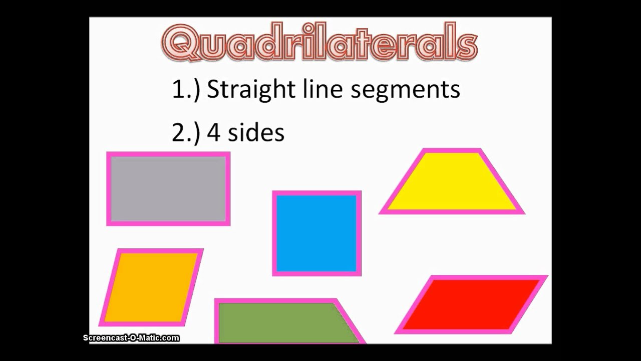 hight resolution of Shapes - Quadrilaterals (solutions