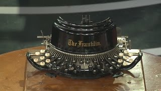 A look into an extensive typewriter collection
