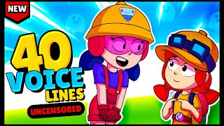 NEW! BRAWLER JACKY All 40 Voice Lines Extended Version! - Brawl Stars Gadgets Update
