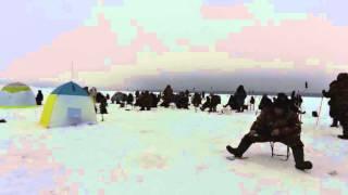 п. Орел, відеозамальовка - зимова риболовля лютий 2014 року.