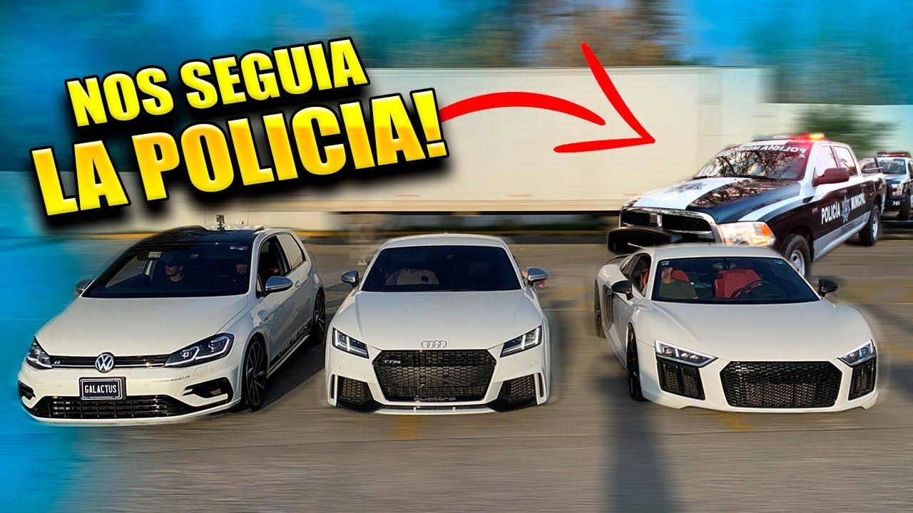LA POLICIA NO NOS DEJABA CORRER MI AUDI R8 VS GOLF R GALACTUS NUEVO THANOS || ALFREDO VALENZUELA