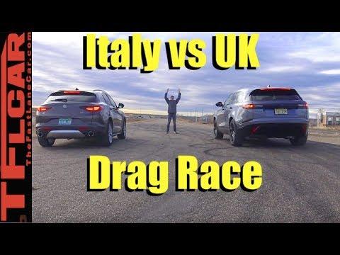 2018 Ranger Rover Velar vs Alfa Romeo Stelvio Drag Race!