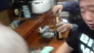 レモンハート151をかんだがさんと飲み比べるマロン君です(*^_^*)