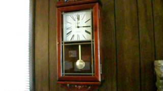 Verichron Pendulum Mahogany Wall Clock Westminster Chime Chiming