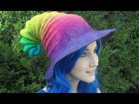 Rainbow Witch Hats from HandiCraftKate! - YouTube 4295fa634fe