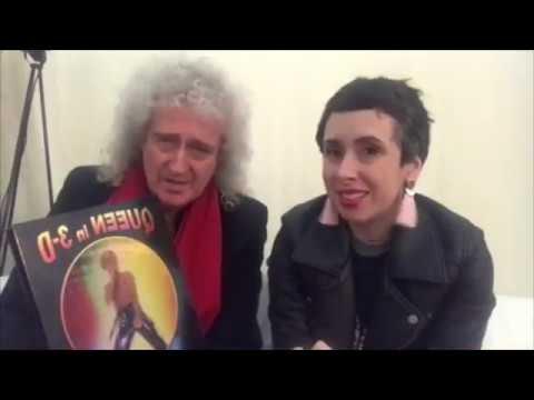 Brian May tells Cheltenham LitFest about Freddie Mercury 10102017