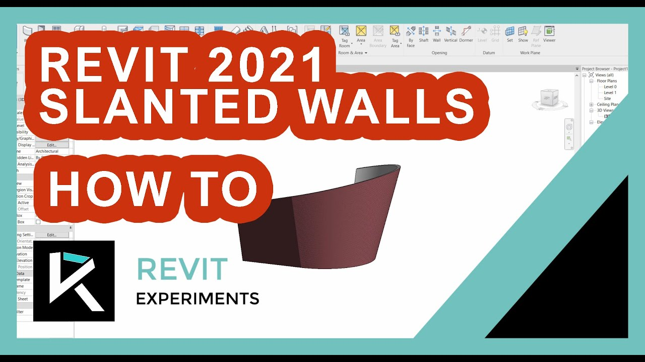 Let's talk about Revit 2021 slanted walls