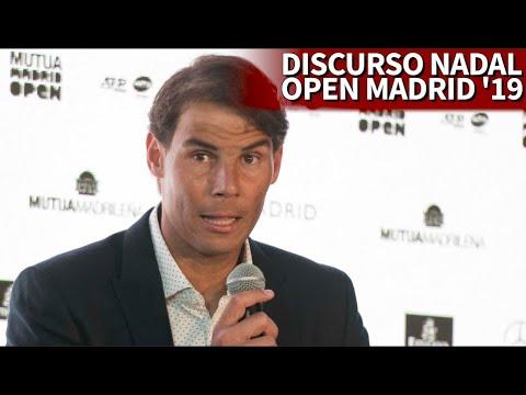 El discurso de RAFA NADAL en la presentación del MUTUA MADRID OPEN 2019 | Diario AS