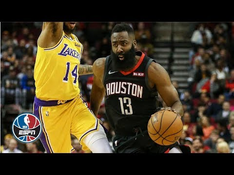 James Harden goes off for 48 points in Rockets' OT win vs. Lakers  NBA Highlights