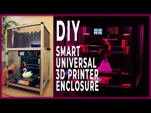 Really nice Smart DIY 3D Printer Enclosure!