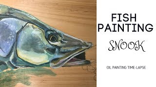 Fish Oil Painting | Time-Lapse SNOOK