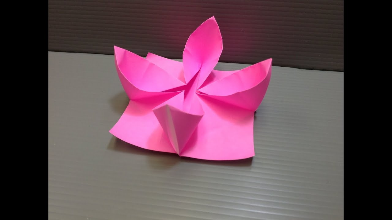 How To Make An Origami Water Lily (Nymphaeaceae) - YouTube | 720x1280