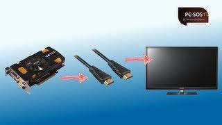 Sound über HDMI vom PC zum TV übertragen  - PC SOS TV Episode 14 [HD]