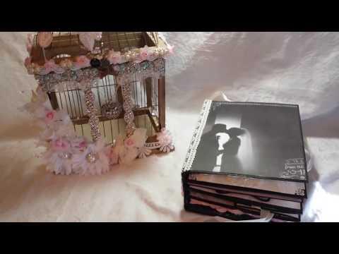 Wedding Mini Album and Birdcage for Tresors de Luxe