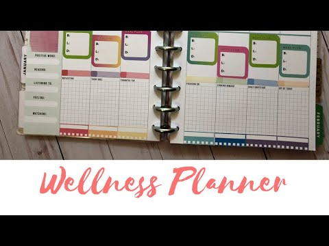 Wellness planner january 15 21 the happy planner for For planner
