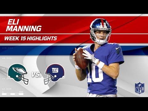 Eli Manning Highlights | Eagles vs. Giants | NFL Wk 15 Player Highlights