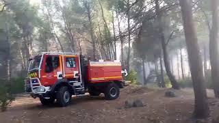 Feu Aubagne arrivée pompiers