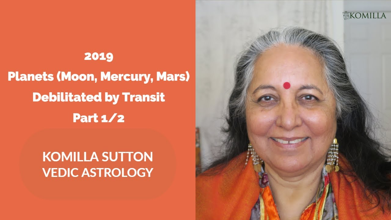 2019 Planets Debilitated (MOON, MERCURY, MARS) by Transit 1/2 : Komilla Sutton Vedic Astrology