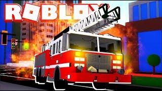 *NEW* WE STOLE A FIRE TRUCK! | ROBLOX JAILBREAK ROLEPLAY