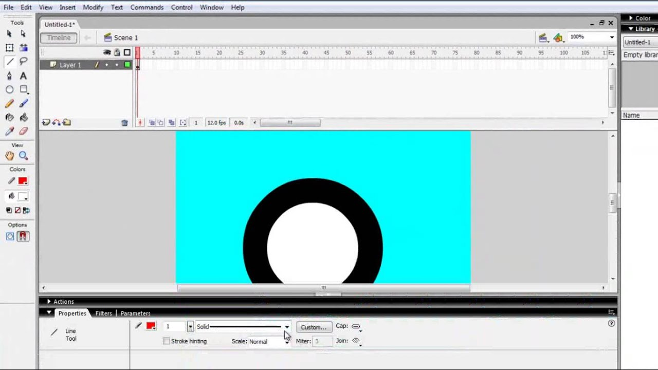 How to create animation spinning wheel using Flash