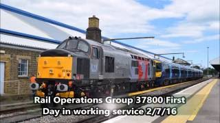Rail Operations Group 37800 First Day in Working Service 2/7/16