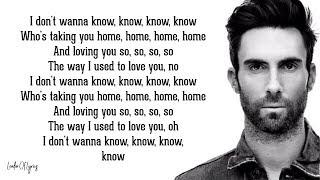 Maroon 5 - DON'T WANNA KNOW (Lyrics) ft. Kendrick Lamar Video
