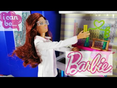 #science  DIY 1/6 scale Lab in a box and Barbie Careers scientist playset review