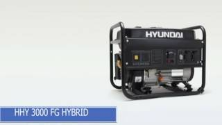 Гибридный генератор Hyundai HHY 3000FG. Газ бензин. Краткий обзор от Sad ok.com смотреть