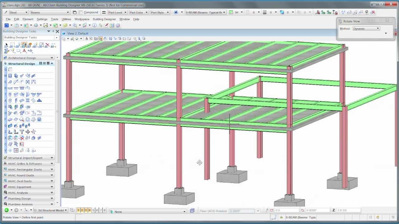 2 structural design in aecosim building designer youtube for Structural design of a house