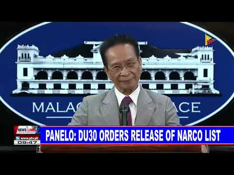 Panelo: PRRD orders release of narco list