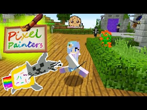 Minecraft Pixel Painters & Super Paint Ball Cookieswirlc Let's Play Online Game Video