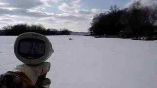 RC airboat 44 MPH snow run