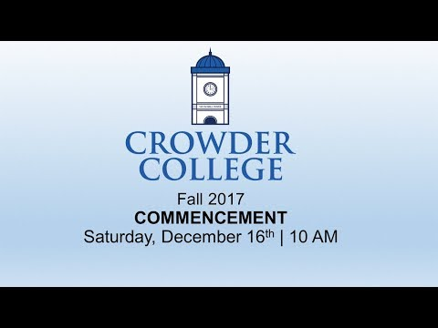 Crowder College Fall 2017 Graduation