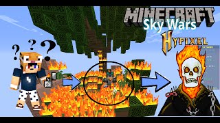 MINECRAFT : Nghịch lửa thành Tigerr GHOST RIDER l SKY WARS HYPIXEL
