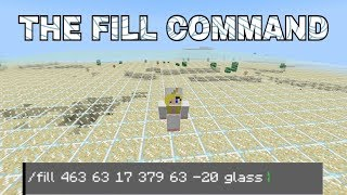 HOW TO USE TΗE FILL COMMAND ON MINECRAFT