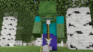 Zombie Life - Minecraft Animation - Cute Baby Chick