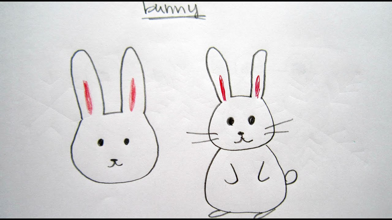 Rabbit Ǖ�卡通兔子  Easy Drawing Tutorial For  Beginners