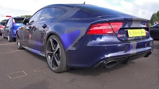 AUDI RS7 SPORTBACK w/ Milltek Non Resonated Catback Exhaust - LOUD REVS & DRAG RACES!