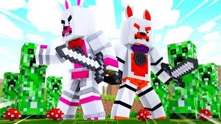 Creepers Attack Lolbit And Funtime Foxy (Minecraft Fnaf Roleplay Adventure)