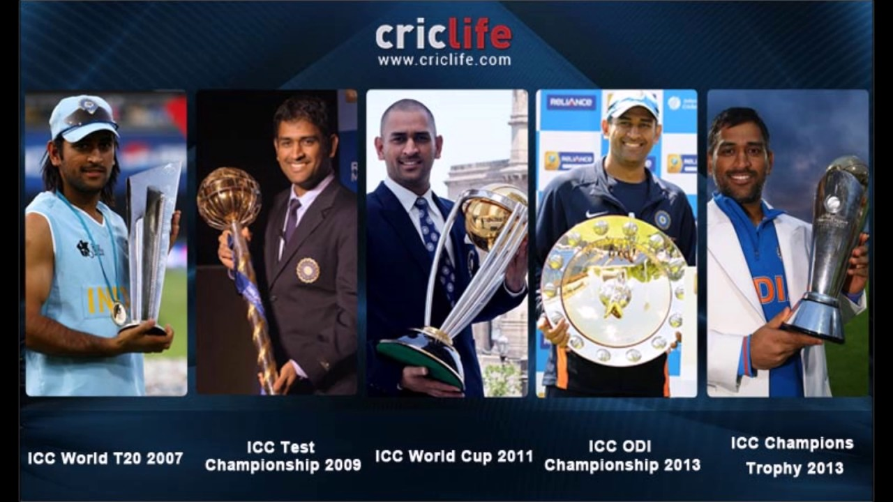 M.S. Dhoni -The Trophy Collector | Records Made By Indian Captain ...