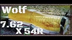 Wolf 7.62x54R 200gr Soft Point Ammo Ballistic Gel Test (HD)